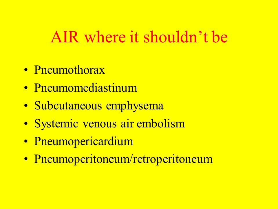 AIR where it shouldn't be