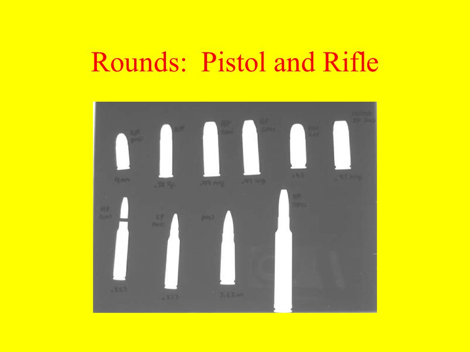 Rounds: Pistol and Rifle