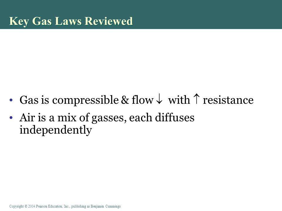 Key Gas Laws Reviewed Gas is compressible & flow  with  resistance