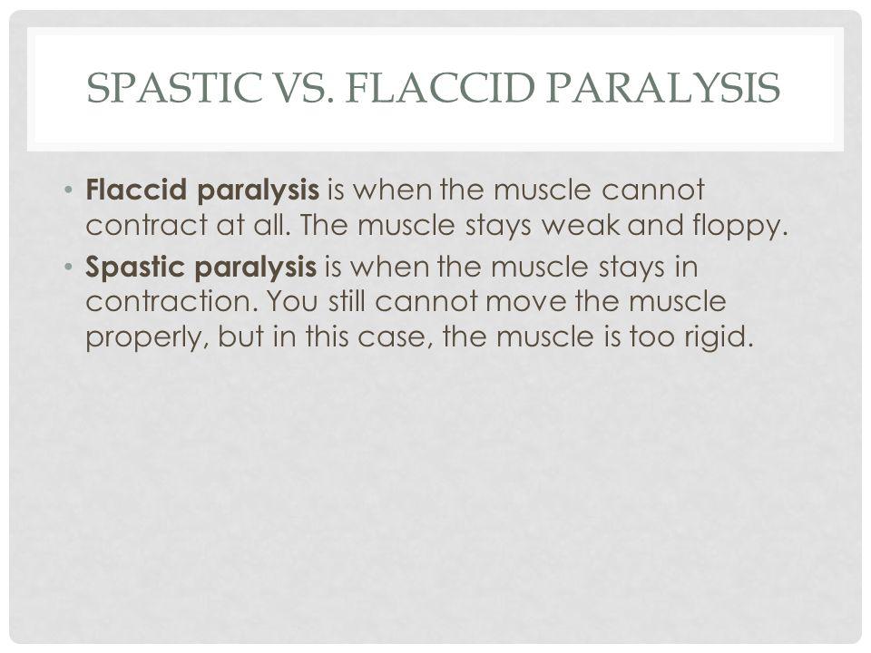 Spastic vs. flaccid paralysis