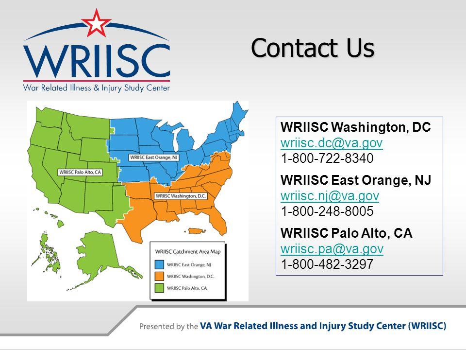 Contact Us WRIISC Washington, DC wriisc.dc@va.gov 1-800-722-8340