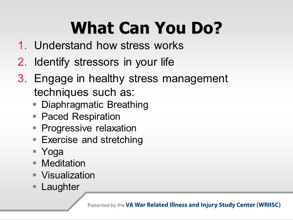 What Can You Do Understand how stress works