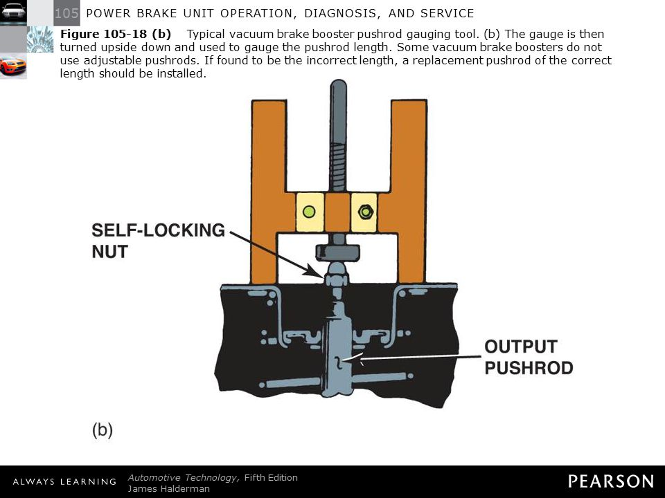 Figure 105-18 (b) Typical vacuum brake booster pushrod gauging tool