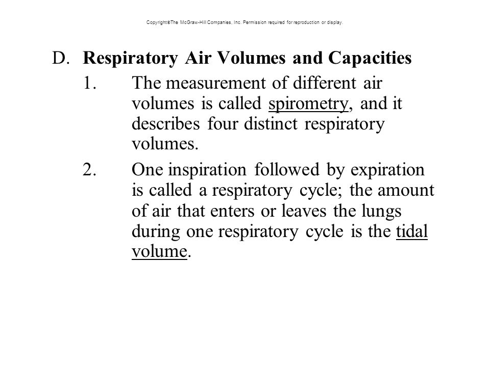 D. Respiratory Air Volumes and Capacities