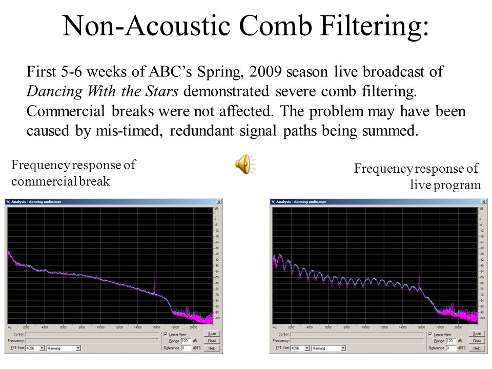 Non-Acoustic Comb Filtering: