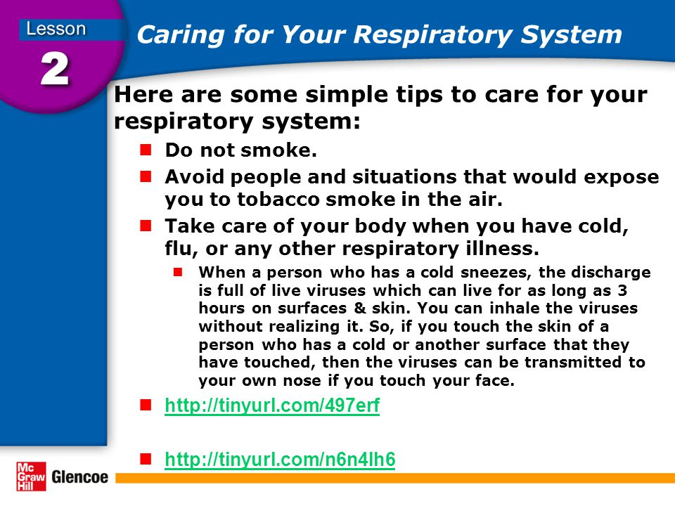 Caring for Your Respiratory System