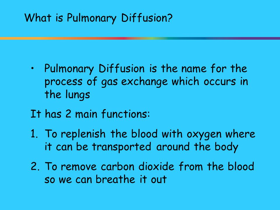 What is Pulmonary Diffusion