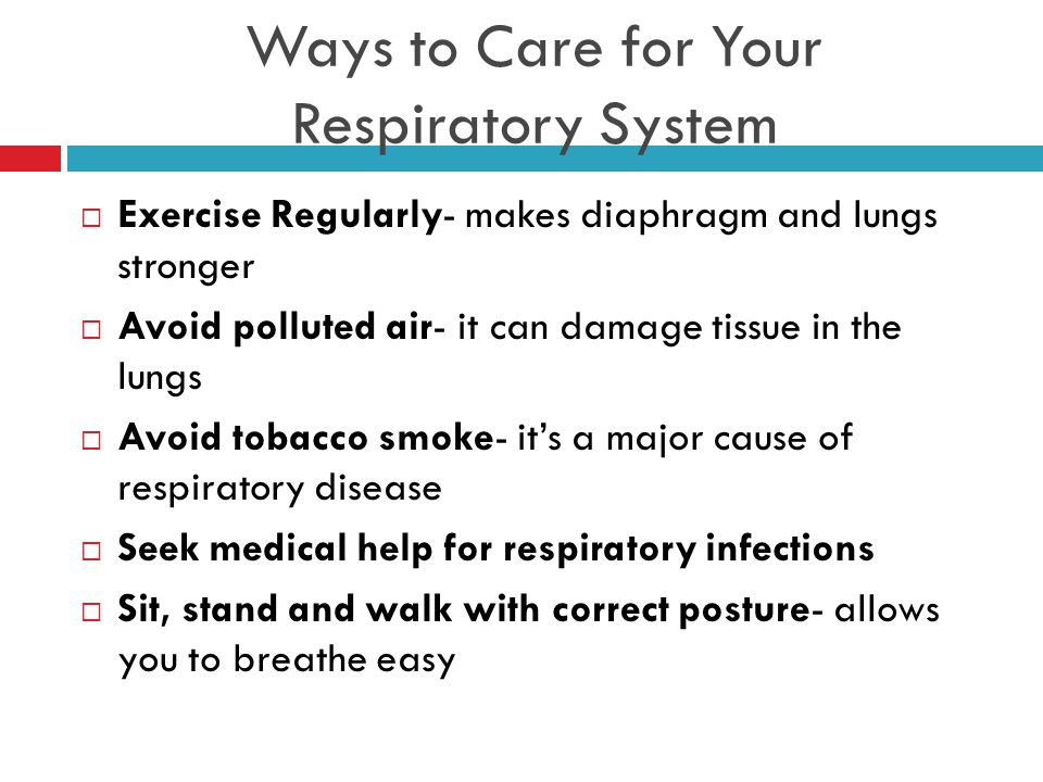 Ways to Care for Your Respiratory System