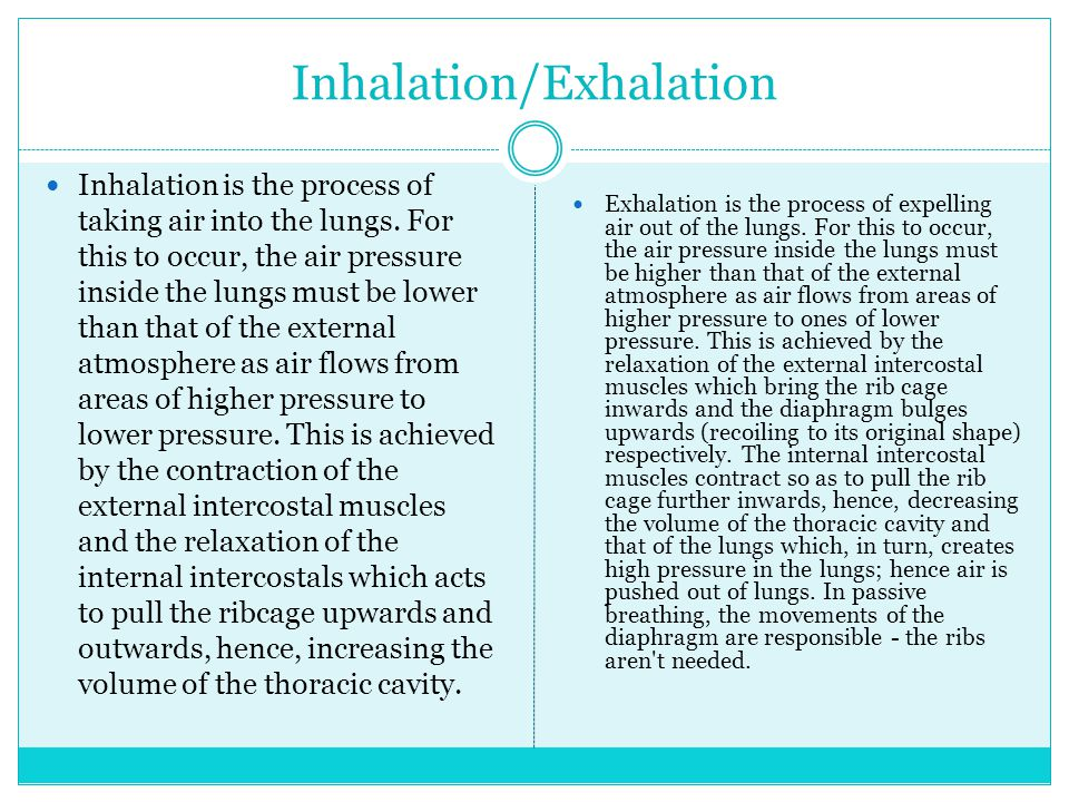 Inhalation/Exhalation
