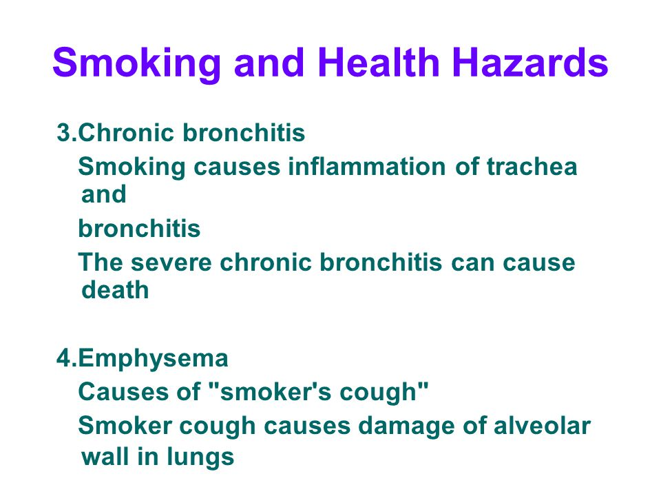 Smoking and Health Hazards