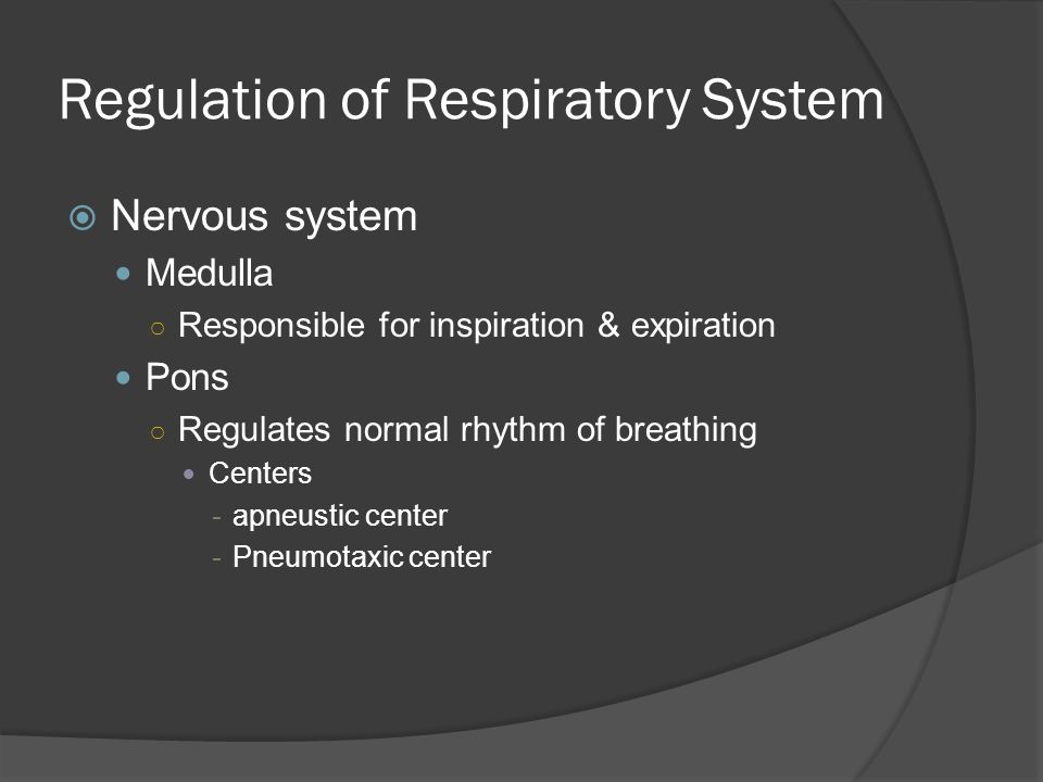Regulation of Respiratory System