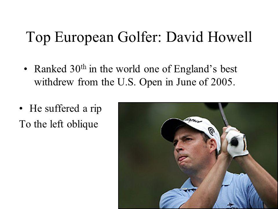 Top European Golfer: David Howell