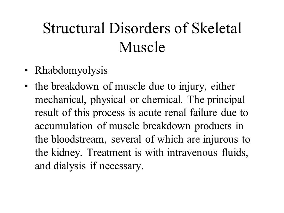 Structural Disorders of Skeletal Muscle