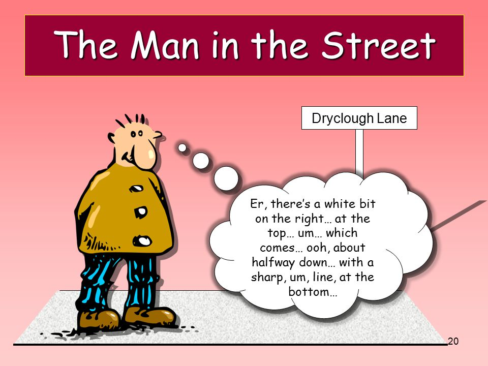 The Man in the Street Dryclough Lane