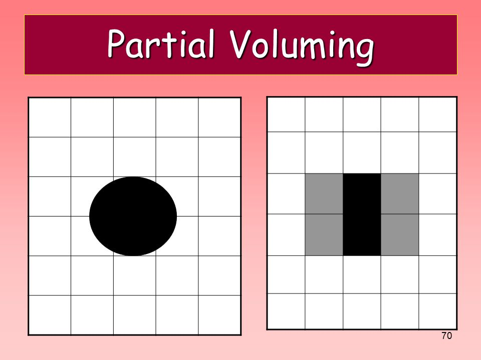 Partial Voluming