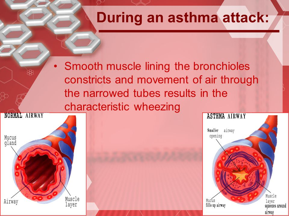 During an asthma attack: