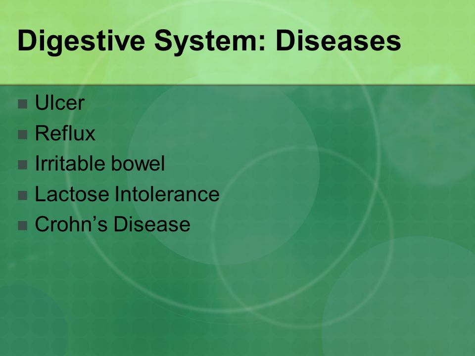 Digestive System: Diseases