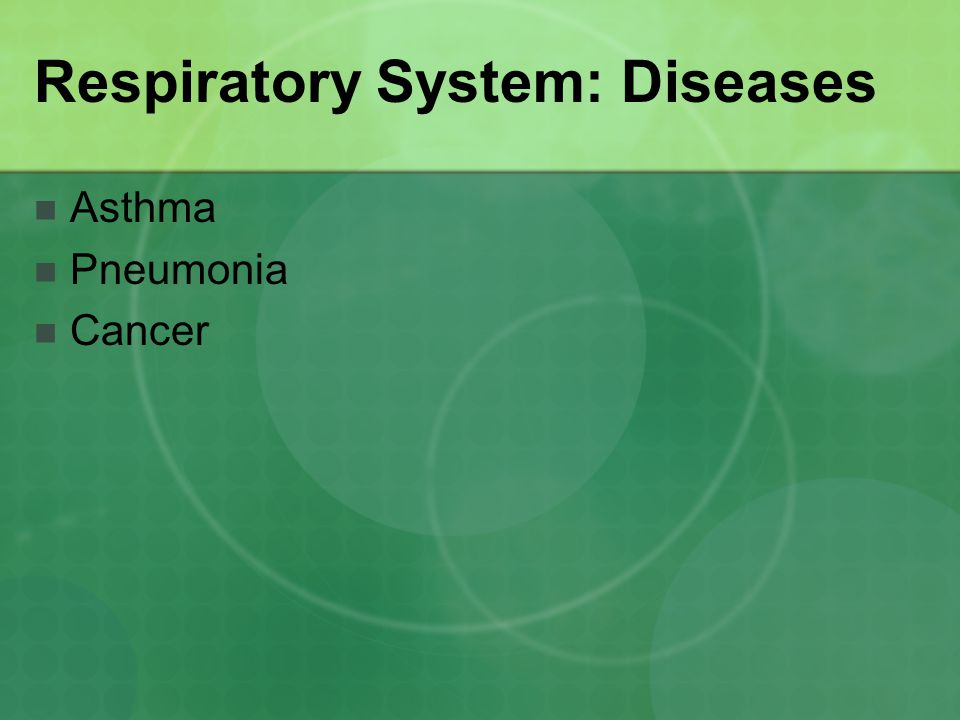 Respiratory System: Diseases