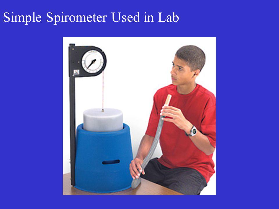 Simple Spirometer Used in Lab