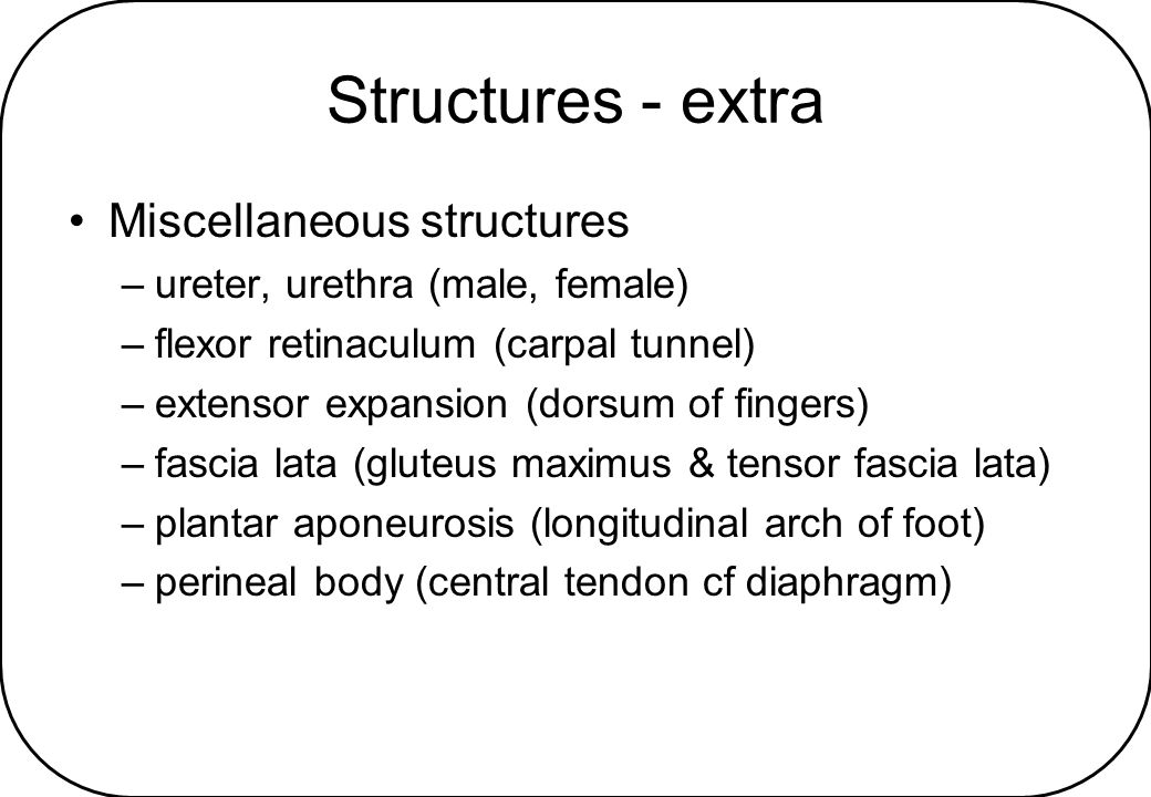 Structures - extra Miscellaneous structures
