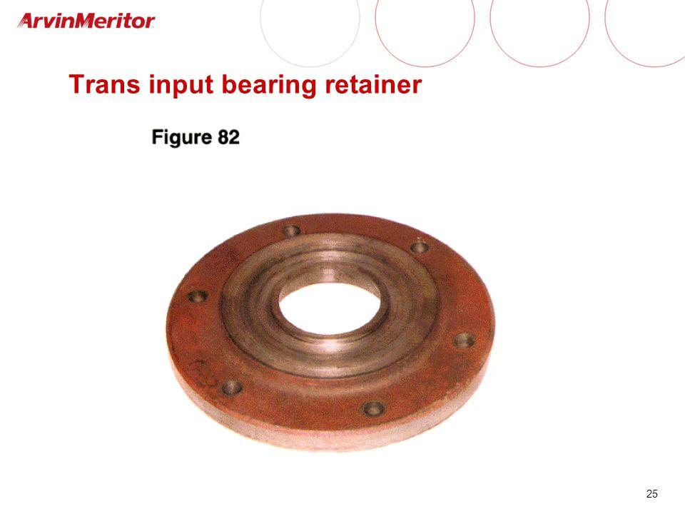Trans input bearing retainer