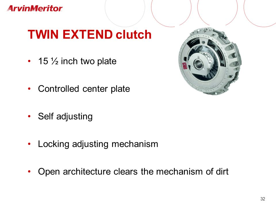 TWIN EXTEND clutch 15 ½ inch two plate Controlled center plate