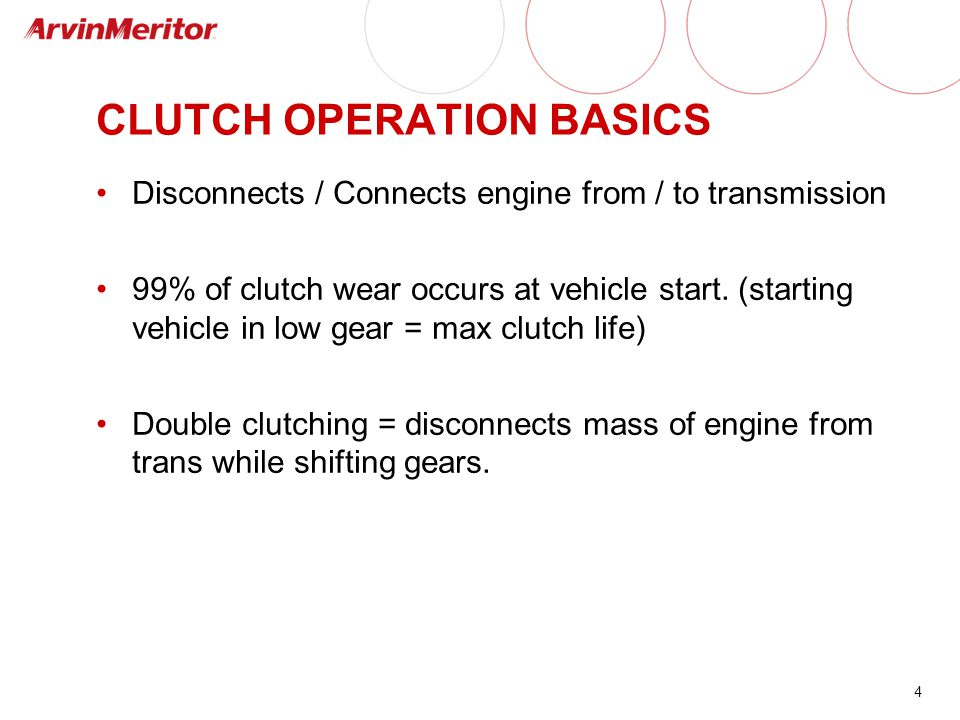 CLUTCH OPERATION BASICS