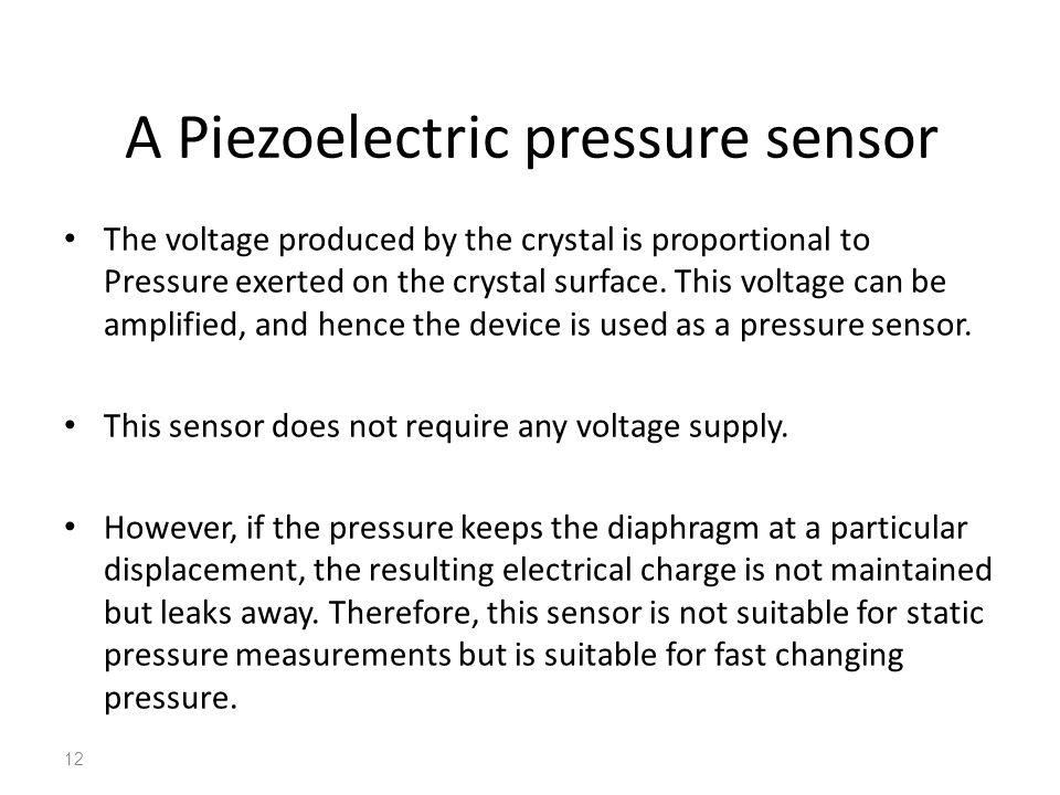 A Piezoelectric pressure sensor