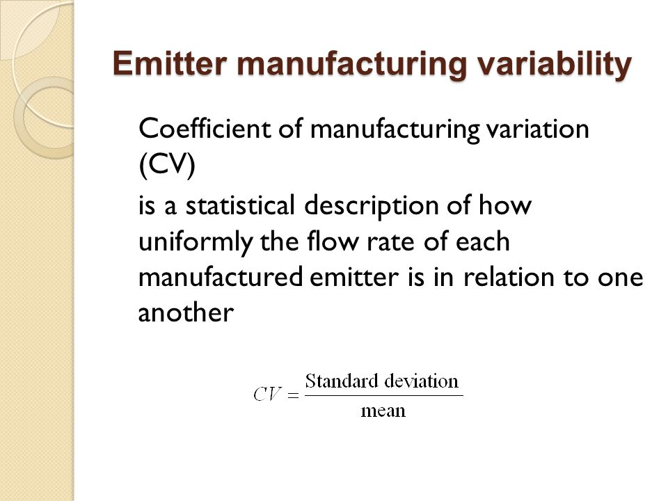 Emitter manufacturing variability