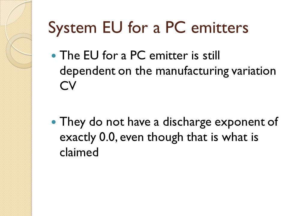System EU for a PC emitters