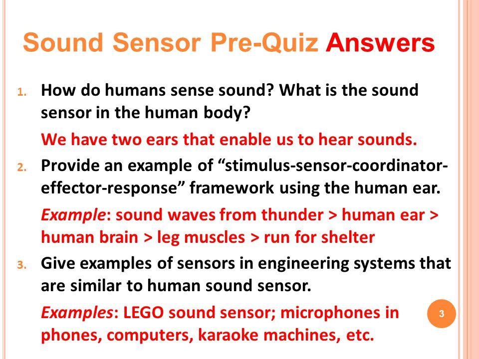 Sound Sensor Pre-Quiz Answers