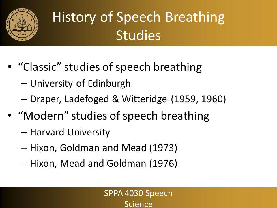 History of Speech Breathing Studies
