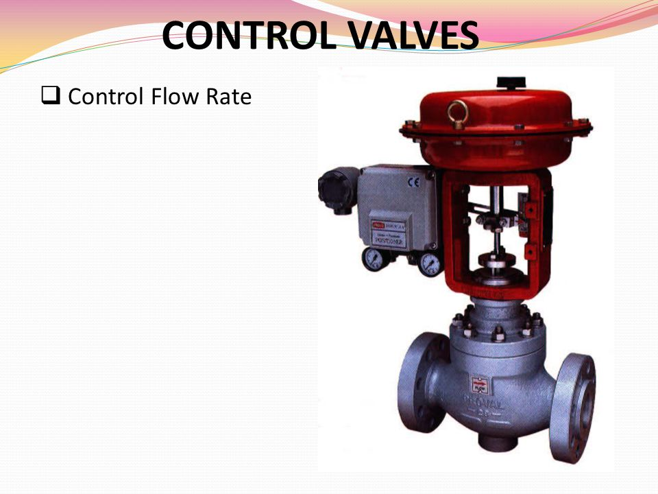 CONTROL VALVES Control Flow Rate