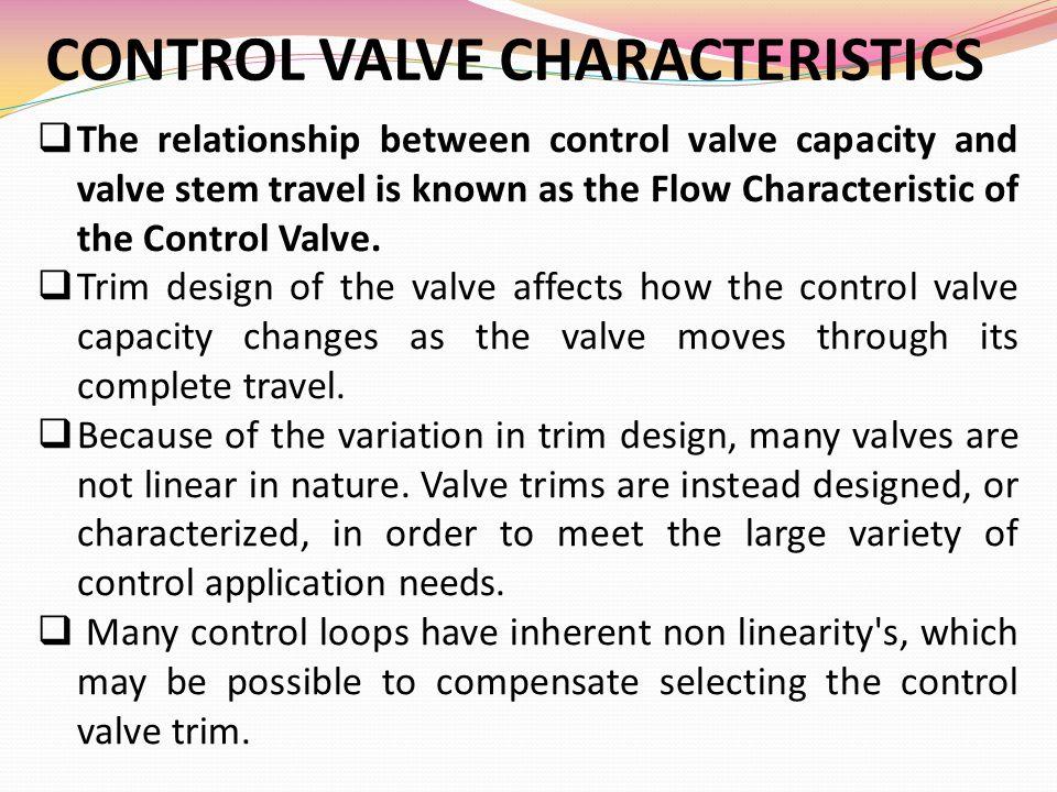 CONTROL VALVE CHARACTERISTICS