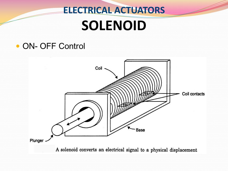 ELECTRICAL ACTUATORS SOLENOID
