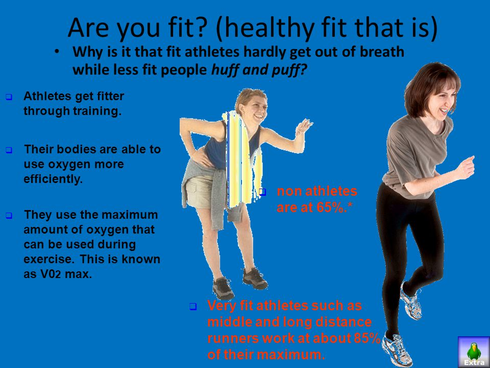 Are you fit (healthy fit that is)