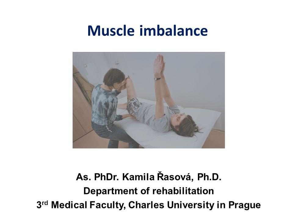 Muscle imbalance As. PhDr. Kamila Řasová, Ph.D.