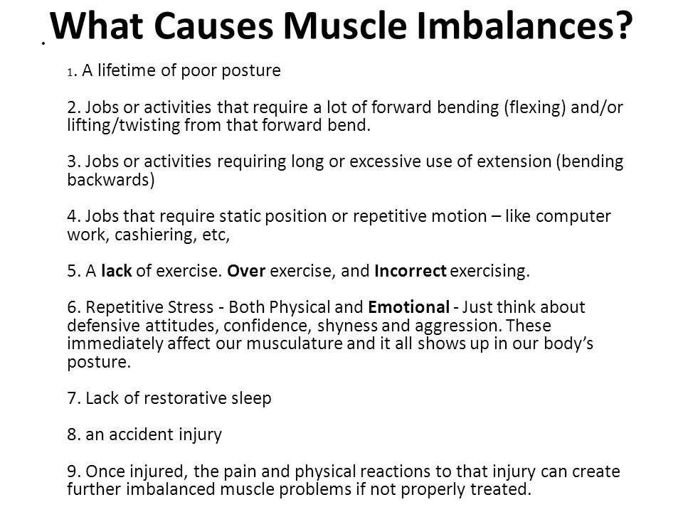 What Causes Muscle Imbalances