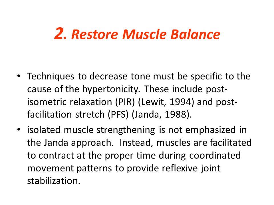 2. Restore Muscle Balance