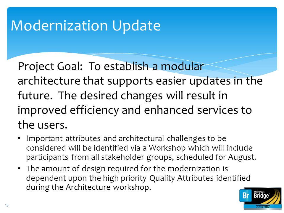 Modernization Update
