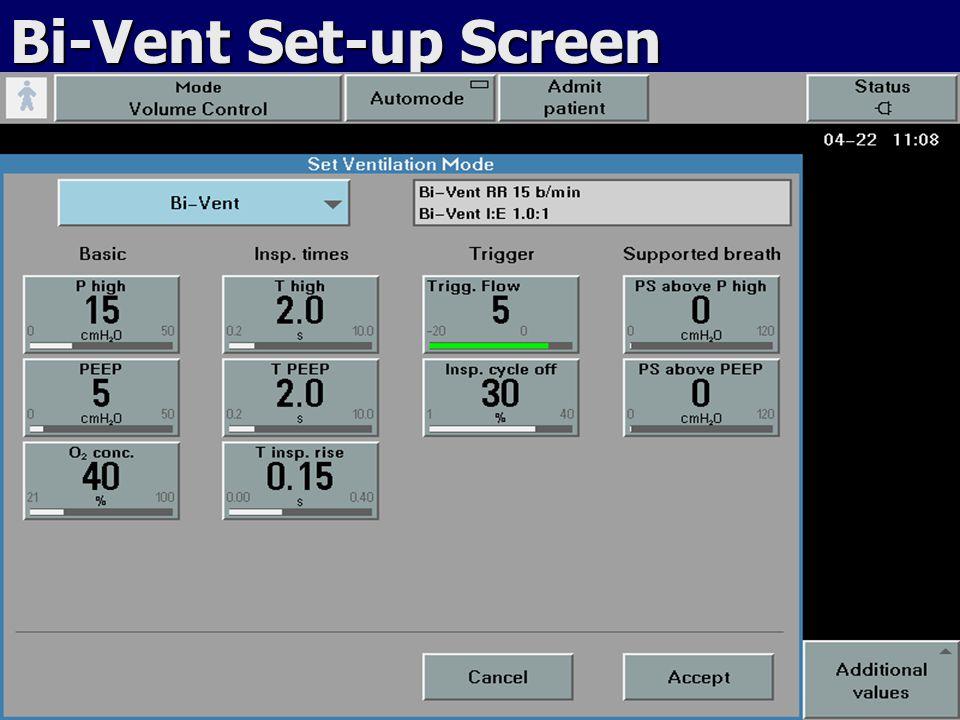 Bi-Vent Set-up Screen