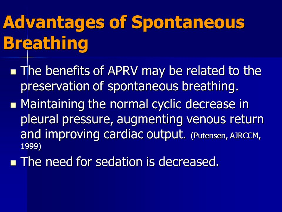 Advantages of Spontaneous Breathing