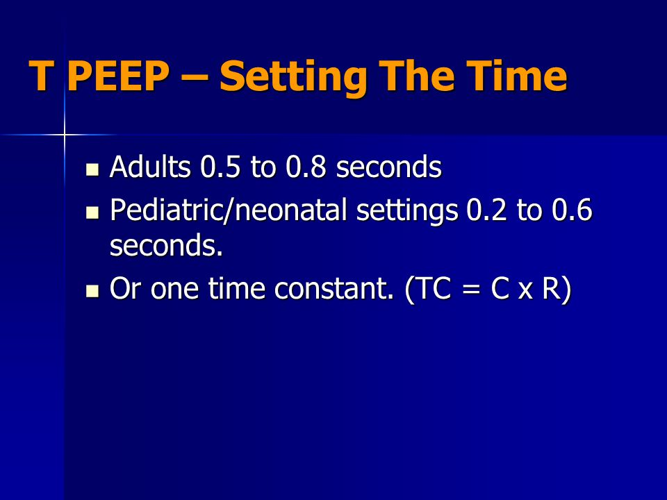 T PEEP – Setting The Time