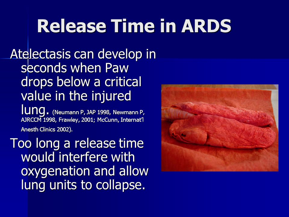 Release Time in ARDS