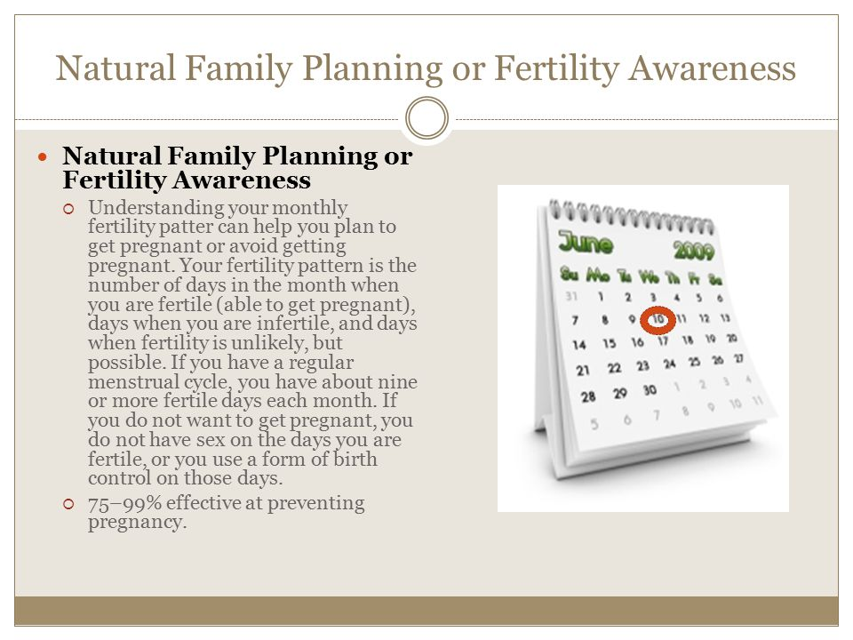 Natural Family Planning or Fertility Awareness