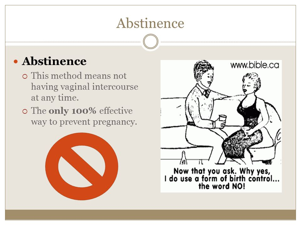 Abstinence Abstinence