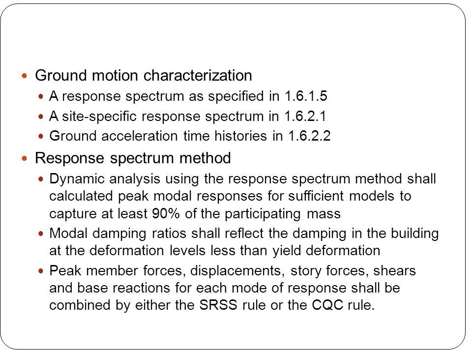 Ground motion characterization