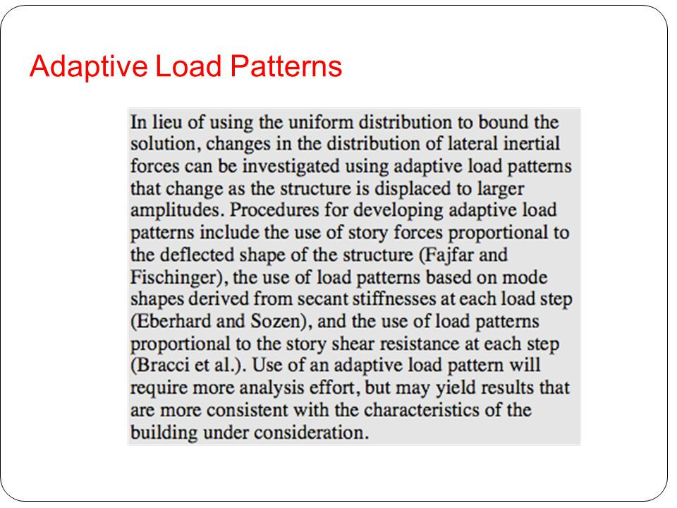 Adaptive Load Patterns