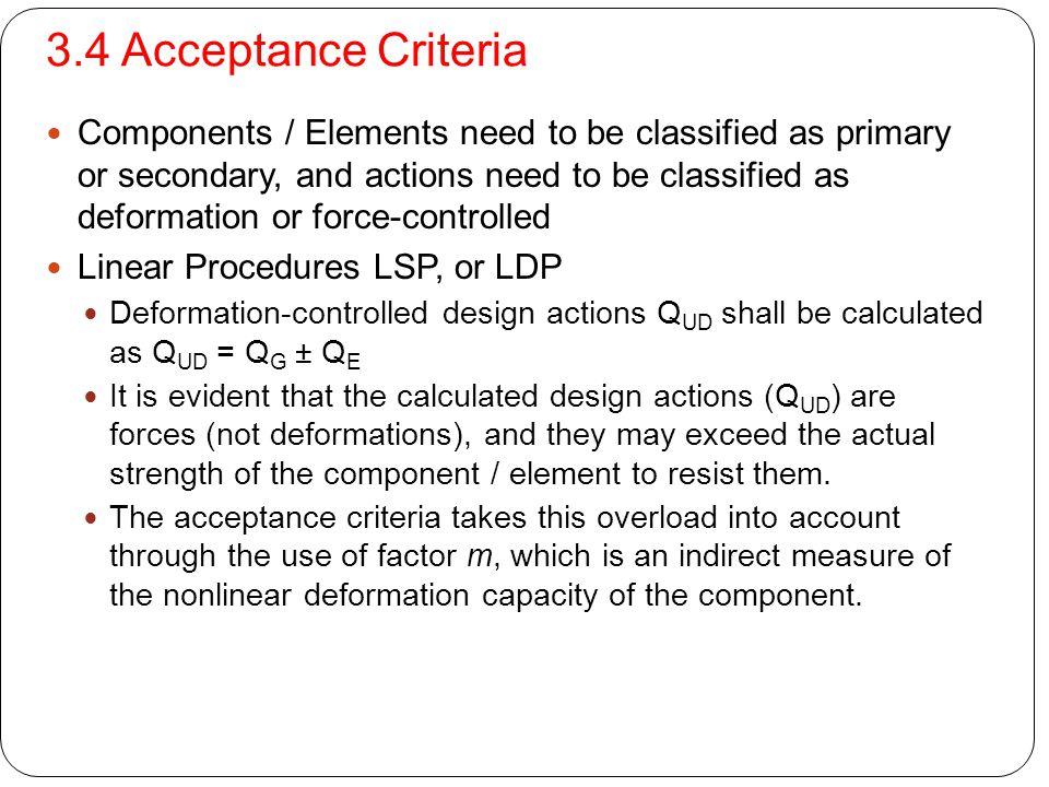 3.4 Acceptance Criteria