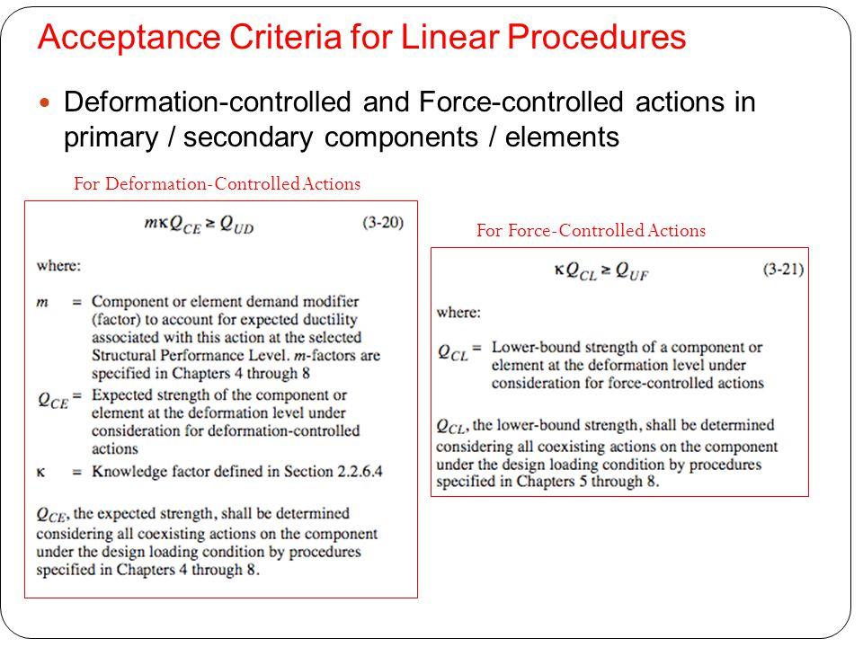 Acceptance Criteria for Linear Procedures